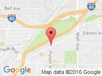 Map of Class Auto Sales at 3400 Fulton Avenue, Sacramento, CA 95821