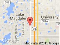 Map of Freedom Motorcars, Inc. at 12724 N Florida Ave, Tampa, FL 33612