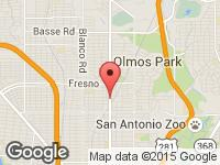 Map of Vollmer Auto Sales at 3803 San Pedro Ave, San Antonio, TX 78212