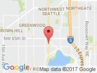 Map of Reality Auto Sales at 8115 Aurora Ave. North, Seattle, WA 98103