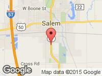 Map of Ace Auto Sales & Detailing LLC at 1411 SOUTH BROADWAY, Salem, IL 62881