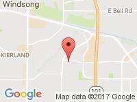 Map of Valley Motor Company at 8175 E. Raintree Dr #6, Scottsdale, AZ 85260