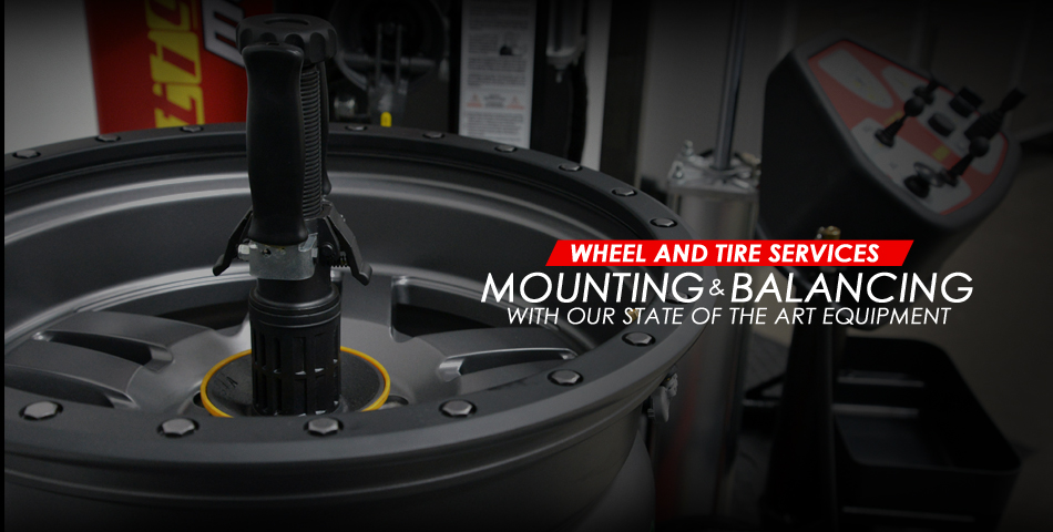 wheel and tire services, mounting and balancing, state of the art equipment, wheel balancing, install tires, balance tires, mount tires, tire mount without scuffing rim