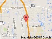 Map of iDrive On Demand at 2431 St John's Bluff Rd S, Jacksonville, FL 32246
