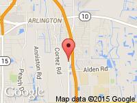 Map of iDrive On Demand at 2431 St John's Bluff Rd S, Jacksonville, FL 32246