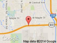 Map of Dream Machines at 8181 West Kellogg, Wichita, KS 67209