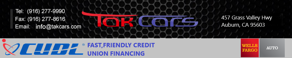 Tak Cars Used Cars and SUV for sale in Sacramento, CA
