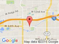 Map of Rock Auto, LLC at 9200 W 44th Ave, Wheat Ridge, CO 80033