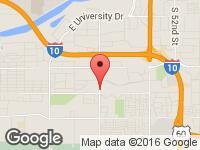 Map of VMI Mobility Center at 5058 South 40th Street, Phoenix, AZ 85040
