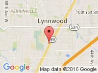 Map of Quality Auto Center at 20420 WA-99, Lynnwood, WA 98036