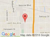 Map of Fox Car & Truck Sales at 16149 Sherman Way, Van Nuys, CA 91406