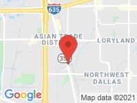 Map of Addison Autoplex at 4103 Billy Mitchell Dr, Addison, TX 75001