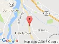 Map of PDX Auto Mart at 13908 SE McLoughlin Blvd., Portland, OR 97267