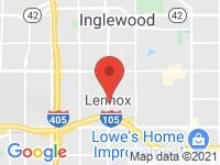 Map of Car Lux Inc at 843 S La Brea, Inglewood, CA 90301