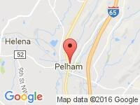 Map of Susan Schein Automotive at 3171 Pelham Parkway, Pelham, AL 35124