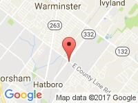 Map of Active Auto Hatboro Inc at 300 E. County Line Road, Hatboro, PA 19040
