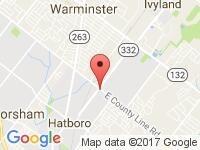 Map of Active Auto Hatboro Inc at 300 E. County Line Road, Hatboro, PA 19040