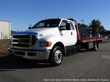 2011 Ford F-650 Super Duty XLT Pro Loader Quad Cab Roll Back Wrecker Tow Flat Bed Truck
