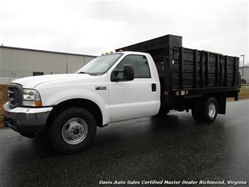 2003 Ford F-350 Super Duty XL Dually Regular Cab 12 Foot Flat Bed Lift Gate Work Truck