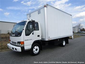 1996 Isuzu NPR HD Diesel 14 Foot Roll Up Rear Door Commercial Box Van Truck