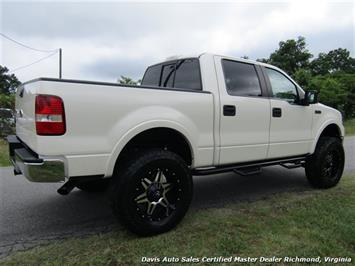 2008 ford f 150 platinum pearl white lariat lifted 4x4 crew cab sb. Black Bedroom Furniture Sets. Home Design Ideas