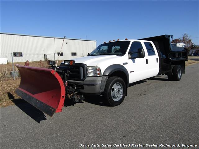 2006 Ford F 550 Super Duty Xl 4x4 Diesel Crew Cab Dump