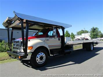 2007 Ford F-750 Super Duty XLT CAT Diesel Regular Cab Wrecker Rollback 4 Car Hauler Truck