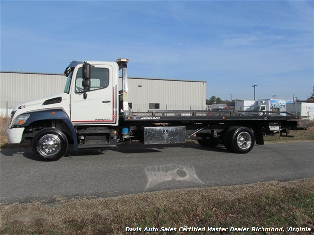 2010 hino 268 rollback wrecker tow truck 21 foot jerr dan wheel lift