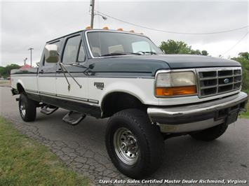 1997 ford f 350 xlt 7 3 obs 4x4 crew cab long bed. Black Bedroom Furniture Sets. Home Design Ideas