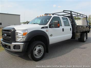 2012 Ford F-450 Super Duty XL 4X4 Crew Cab Long Flat Bed Work Truck