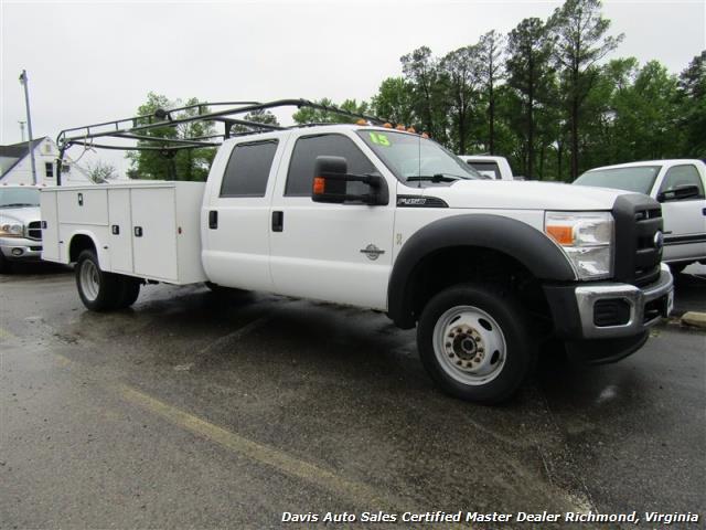 2015 ford f 450 super duty xl 4x4 diesel 6 7 dually crew cab utility work bin body. Black Bedroom Furniture Sets. Home Design Ideas
