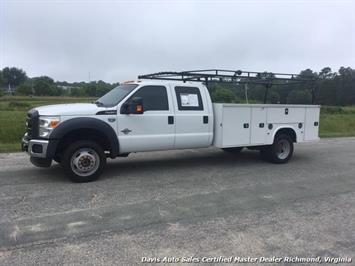 2015 Ford F-450 Super Duty XL 4X4 Diesel 6.7 Dually Crew Cab Utility Work Bin Body Truck
