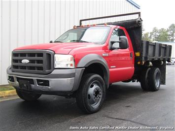2005 Ford F-450 Super Duty XL Regular Cab Dump Bed Power Stroke Turbo Diesel Truck
