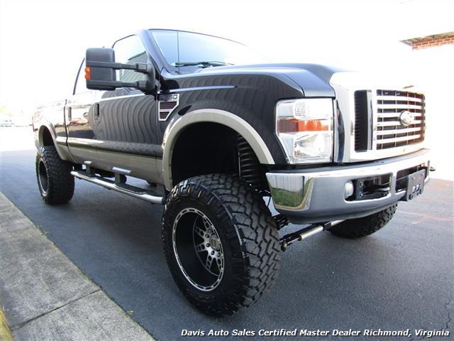 2008 ford f 250 super duty lariat lifted diesel 4x4 crew cab sb. Black Bedroom Furniture Sets. Home Design Ideas