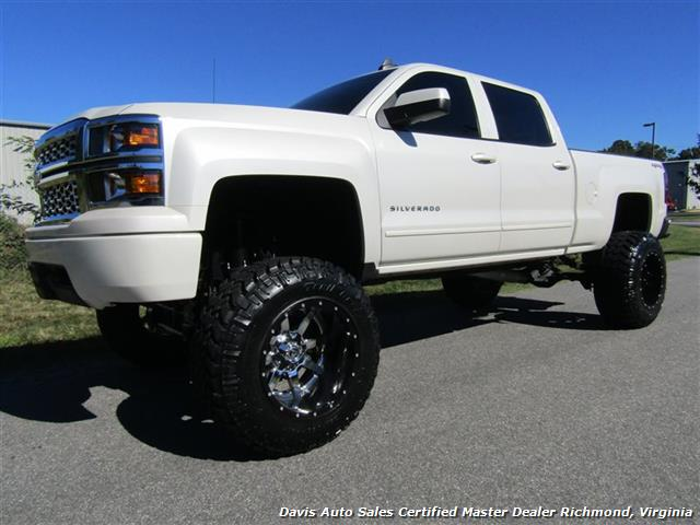 2015 chevrolet silverado 1500 lt z71 pearl 4x4 full size crew cab lifted photo 1 - Dodge Truck 2015 Lifted