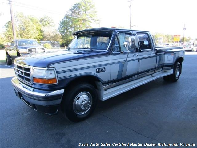Ford F350 6 Door >> 1995 Ford F-350 XLT Centurion Conversion Dually Custom Crew Cab LB