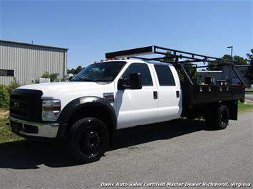 2008 Ford F-550 Super Duty XL 6.4 Diesel Dually Crew Cab Flat Bed Utility Work Truck