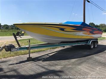 1989 Velocity Power Boat 30 V Performance Twin 8100 Engines Custom Paint