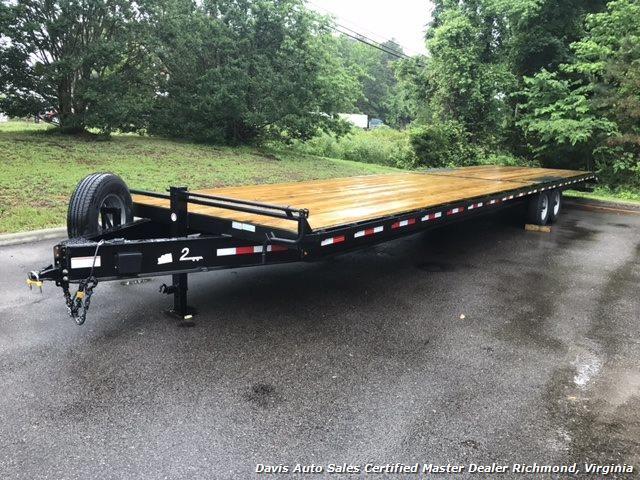 2016 Down To Earth 38 Foot Flat Deck Car Hauling Equipment Trailer - Photo 1 - Richmond, VA 23237