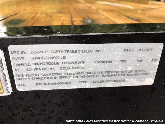 2016 Down To Earth 38 Foot Flat Deck Car Hauling Equipment Trailer - Photo 8 - Richmond, VA 23237