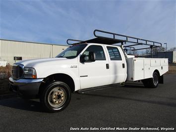 2002 Ford F-450 Super Duty XL 7.3 Diesel Crew Cab 12 Foot Utility Bin Body Truck
