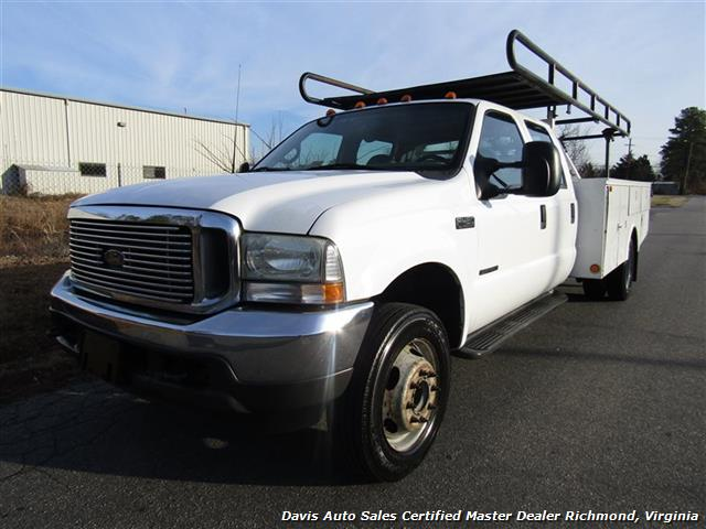 2002 Ford F-450 Super Duty XL 7.3 Diesel Crew Cab 12 Foot Utility Bin Body - Photo 2 - Richmond, VA 23237