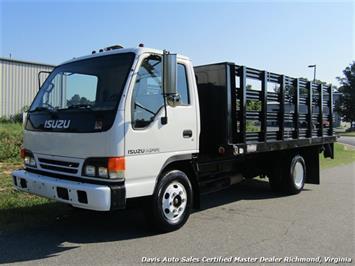 2002 Isuzu NPR Dually Commercial Regular Cab Flat Bed Lift Gate Truck