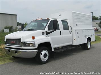 2006 GMC C5500 Kodiak/Topkick 6.6 Duramax Diesel Dually Crew Cab Utility Bed Truck