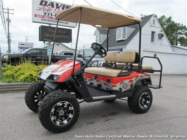 2007 ez go electric golf cart harley davidson edition for Discount motors jacksboro hwy inventory