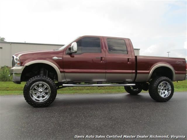 2007 ford f 250 diesel lifted king ranch 4x4 super duty crew cab. Black Bedroom Furniture Sets. Home Design Ideas