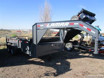 2017 Lamar 14' Gooseneck Dump