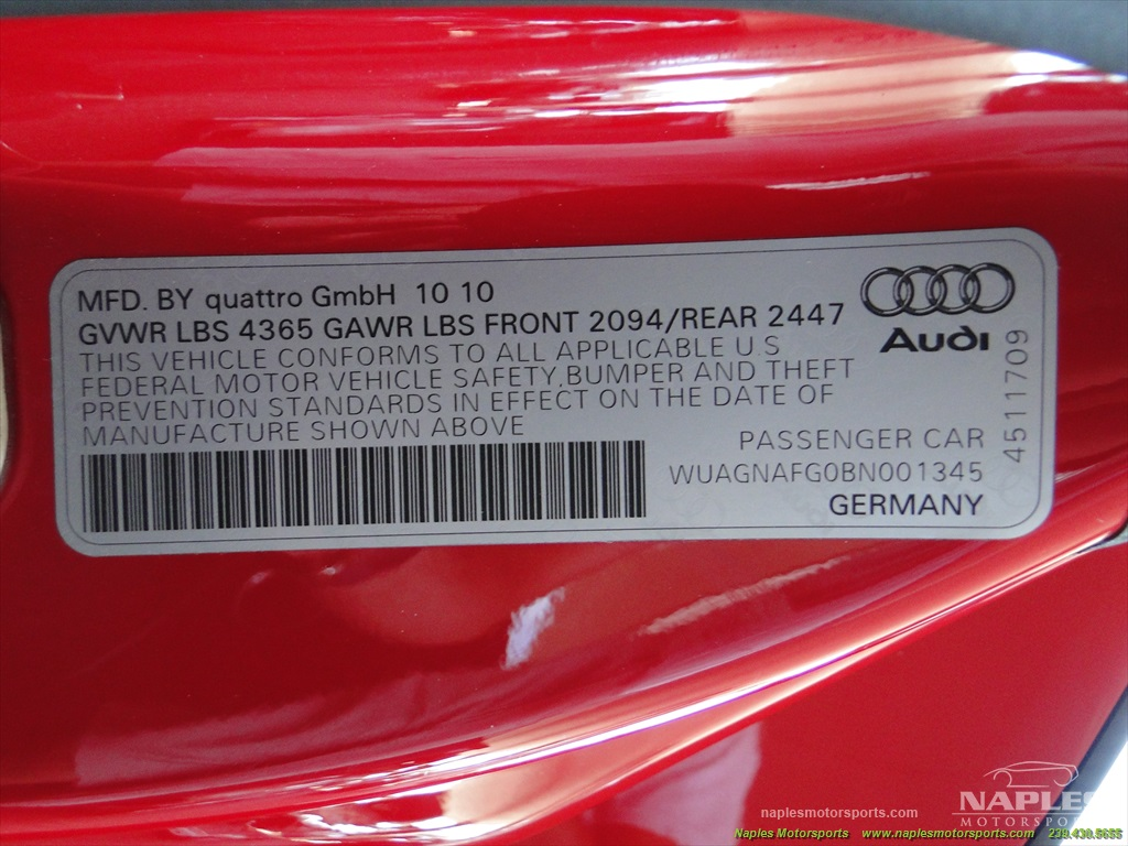 2011 Audi R8 5.2 quattro - Photo 58 - Naples, FL 34104