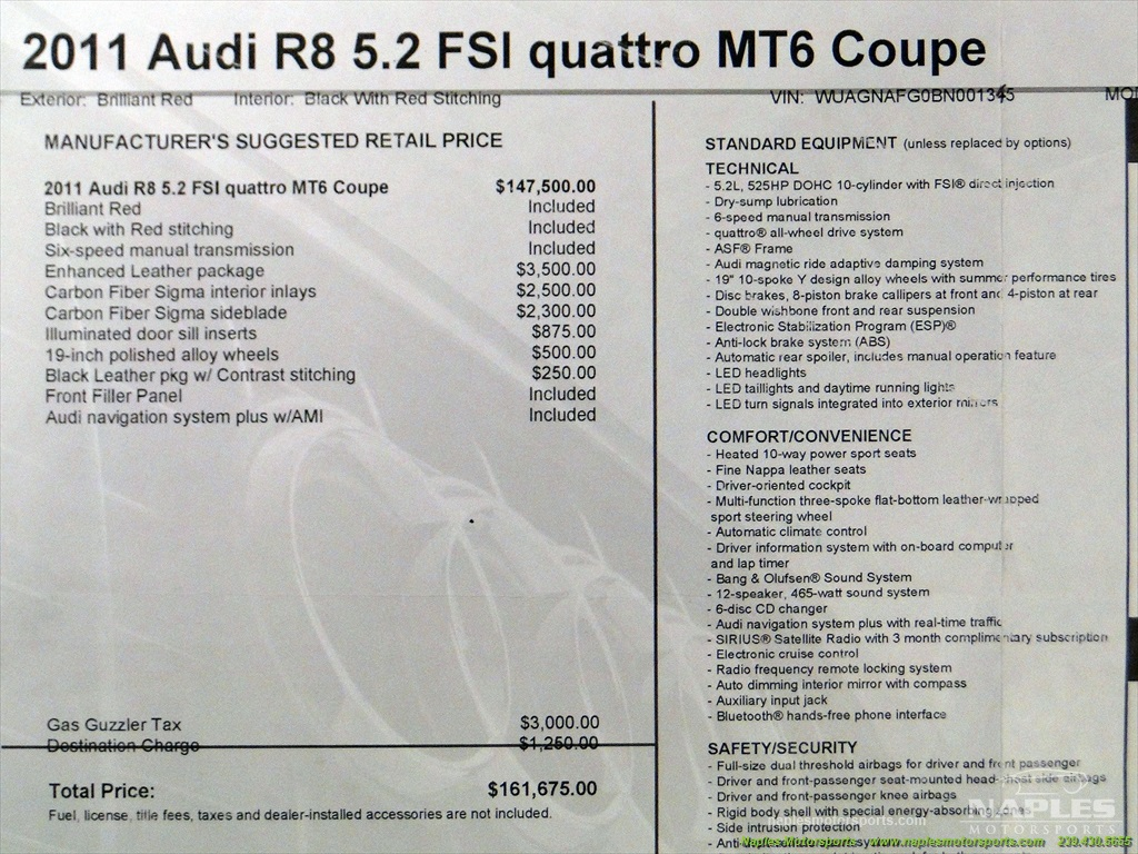 2011 Audi R8 5.2 quattro - Photo 8 - Naples, FL 34104