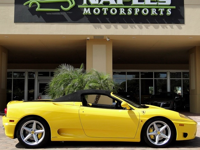 Used 2001 ferrari 360 spider for sale in naples fl fort for Florida department of motor vehicles naples fl